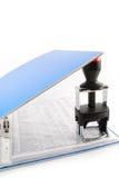 Dispositivo di piegatura dell'ufficio Fotografia Stock Libera da Diritti