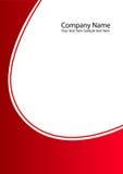 Dispositivo di piegatura della pagina di fronte dell'azienda Fotografia Stock Libera da Diritti