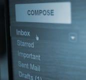 Dispositivo di piegatura di Inbox fotografia stock