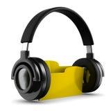 Dispositivo di piegatura di musica su priorità bassa bianca Fotografia Stock