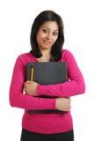 Dispositivo di piegatura e matita sicuri della holding dell'allievo Immagini Stock Libere da Diritti