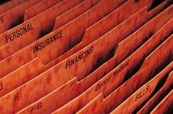 Dispositivo di piegatura per i documenti finanziari Fotografie Stock Libere da Diritti