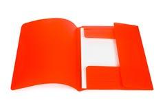 Dispositivo di piegatura rosso con documento fotografie stock
