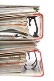 Dispositivo di piegatura rosso dell'ufficio dell'archivio della pila immagine stock