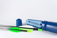 Dispositivo di plastica di Fletching Immagini Stock Libere da Diritti