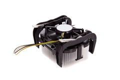 Dispositivo di raffreddamento del CPU isolato su priorità bassa bianca Immagine Stock Libera da Diritti