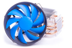 Dispositivo di raffreddamento del CPU su una priorità bassa bianca Immagine Stock Libera da Diritti