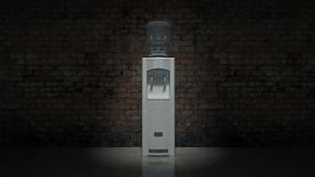 Dispositivo di raffreddamento di acqua bianca royalty illustrazione gratis