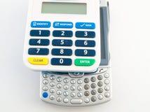 Dispositivo di sicurezza di codice di Pin di obbligazione della Banca con PDA Fotografia Stock Libera da Diritti