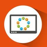Dispositivo di tecnologia di linguaggi di programmazione Immagini Stock