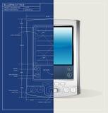 Dispositivo do modelo PDA Foto de Stock Royalty Free