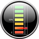 Dispositivo do nível de combustível vazio Foto de Stock