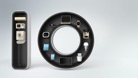 Dispositivo elegante en la palabra IoT libre illustration