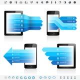 Dispositivo eletrónico Infographics Fotografia de Stock Royalty Free