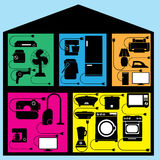Dispositivo en casa Foto de archivo libre de regalías