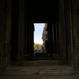 Dispositivo estilístico del templo Bayon en Camboya Fotos de archivo