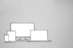 Dispositivo fijado en el papel imagen de archivo