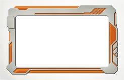 Dispositivo futurista de la tableta del plástico y del neón Imágenes de archivo libres de regalías