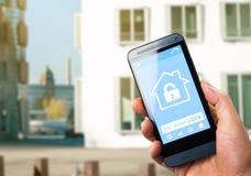 Dispositivo home esperto - controle home Fotografia de Stock