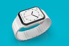 Dispositivo imaginário cerâmico branco do boato do relógio 4 de Apple, modelo ilustração do vetor