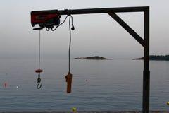 Dispositivo lfiting della barca con telecomando fotografia stock