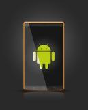 Dispositivo móvel do android do vetor Fotografia de Stock Royalty Free