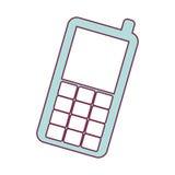 Dispositivo móvil del teléfono móvil ilustración del vector