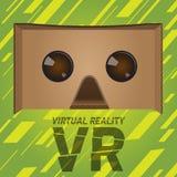 Dispositivo original dos auriculares do cartão da realidade virtual Fotos de Stock Royalty Free
