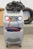 Dispositivo para a verificação do condicionador de ar Foto de Stock