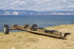 Dispositivo per il trasporto delle barche Fotografie Stock