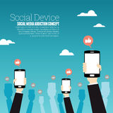 Dispositivo social Imagen de archivo
