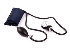 Dispositivo usado para verific a sangue-pressão isolada Fotografia de Stock