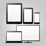 Dispositivos adaptáveis do projeto Ilustração do vetor Imagem de Stock Royalty Free