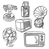 Dispositivos bondes do vintage Imagem de Stock