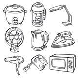 Dispositivos bondes home ilustração do vetor