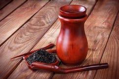 Dispositivos da cerimônia de chá Fotografia de Stock