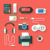 Dispositivos da computação e do electroinc Fotografia de Stock Royalty Free
