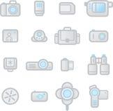 Dispositivos da foto dos ícones Imagem de Stock Royalty Free
