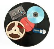 Dispositivos da música imagem de stock