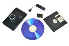 dispositivos de almacenamiento Fotografía de archivo libre de regalías