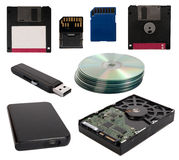 Dispositivos de almacenamiento de los datos Fotos de archivo