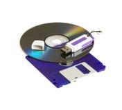 Dispositivos de almacenamiento de los datos Foto de archivo