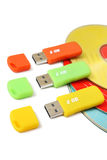 Dispositivos de almacenamiento de los datos de Digitaces Imagen de archivo libre de regalías
