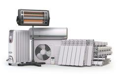 Dispositivos de aquecimento e equipamento do clima Applia do agregado familiar do aquecimento Imagens de Stock
