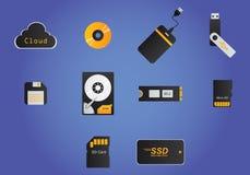 Dispositivos de armazenamento Foto de Stock