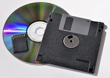Dispositivos de armazenamento externo imagens de stock