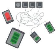 Dispositivos de carregamento ilustração stock