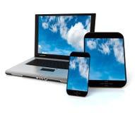 Dispositivos de conexión de la nube Imagen de archivo