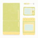 Dispositivos de cozinha ajustados Fotografia de Stock Royalty Free
