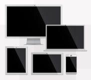 Dispositivos de Electorinc brancos Imagens de Stock